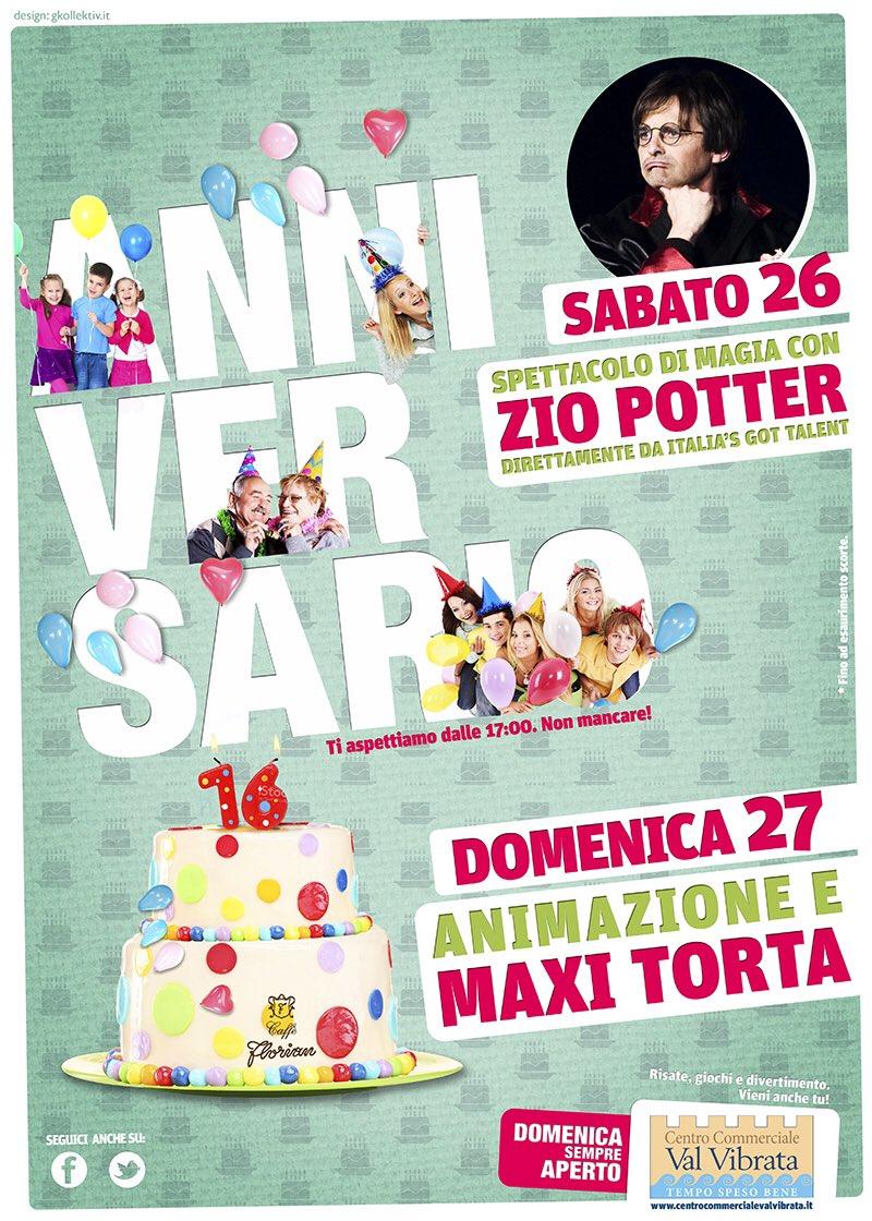 #Anniversario #ZioPotter #CentroCommercialeValVibrata #Teramo #Magia