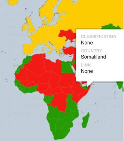 Fathi Bashe On Twitter A Map Of Countries The US Gov Thinks Its - Us safe travel map gov