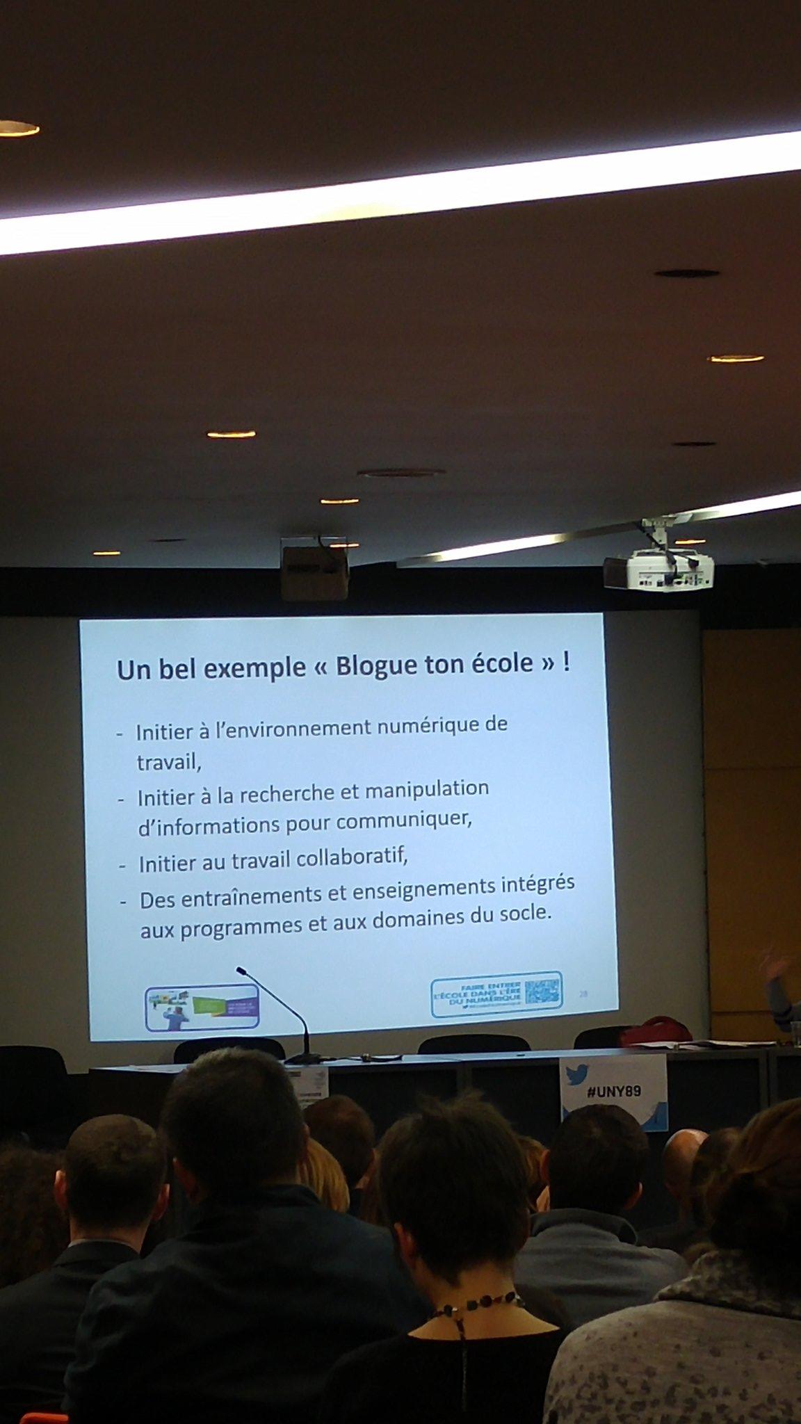 #UNY89  Elisabeth Laporte #Bloguetonecole, une entrée dans le numérique qui mêle toutes les compétences @dane_dijon @AcademieDijon https://t.co/DOUJ6WqlXN