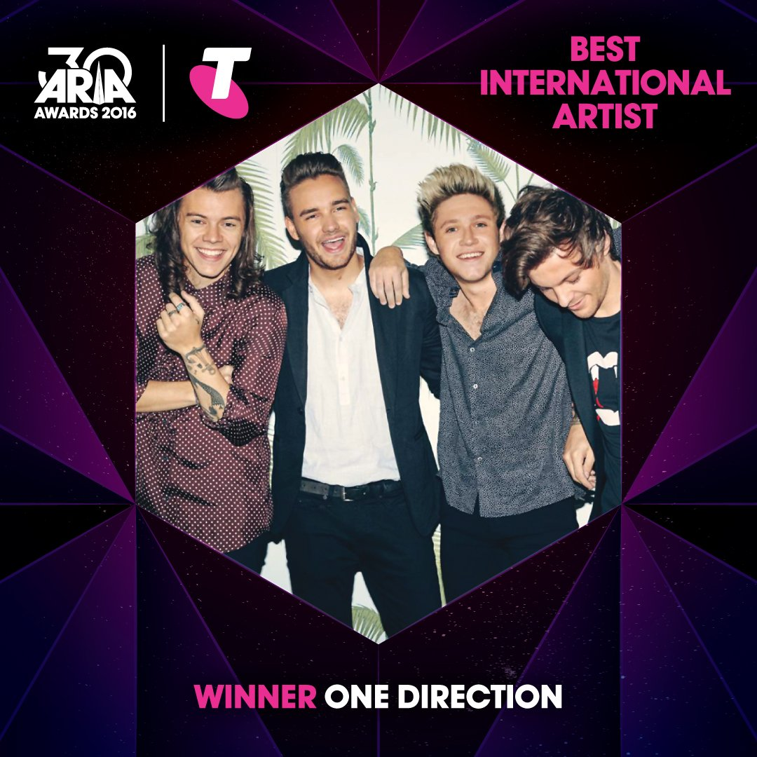 WINNER: @OneDirection - Best International Artist #ARIAs #OneDirection https://t.co/Tkus5OKqrL