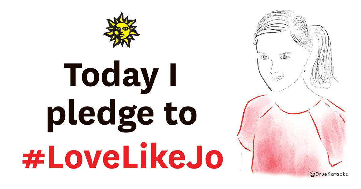 Remember her life, celebrate her vision, continue her fight #LoveLikeJo - please share https://t.co/QPjs5YoQFi