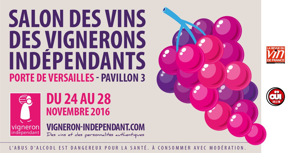 Photos video pictures ppt of salon des vins des - Invitation salon des vignerons independants ...