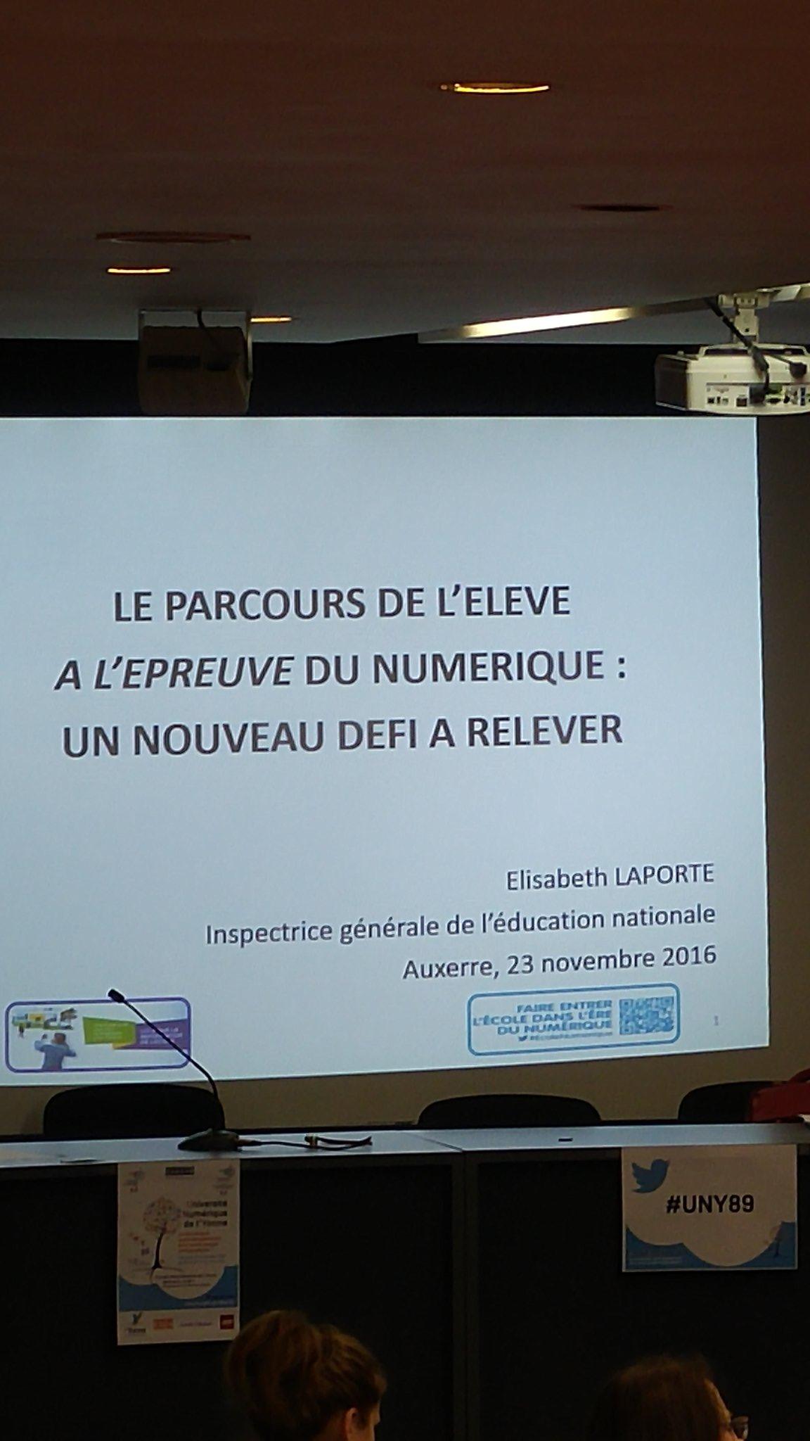 #UNY89 la conférence d'Elisabeth Laporte va débuter @canope_89 @reseau_canope https://t.co/gWYrhuQSbW
