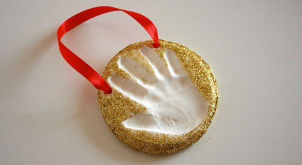 Keepsake Craft: Baking Soda Clay Handprint Ornaments