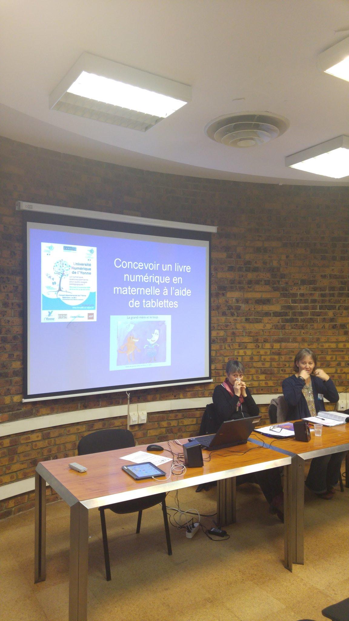 #UNY89 concevoir un livre numérique en maternelle revient cet après-midi salle Epineuil @canope_89 https://t.co/jL1II8uIJU