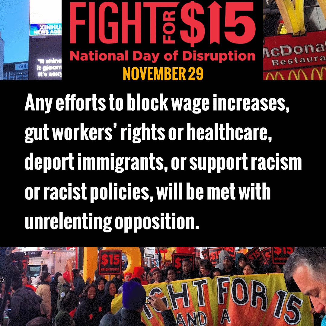We won't be stopped. We won't be silent. We will rise and STRIKE and RESIST on November 29. Join us: https://t.co/SFrtrXaG5b  #Fightfor15 https://t.co/nzcx3IFDtE