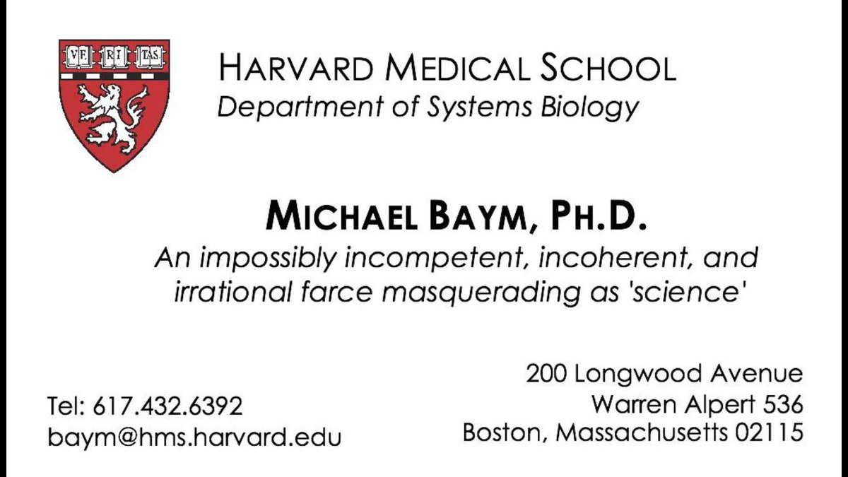 Michael Baym On Twitter Pathogenomenick I Made A Business Card
