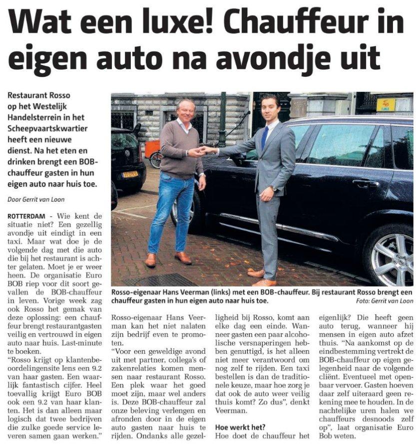 Ook in de regio Rotterdam zijn we weer te vinden in De Havenloods. Wederom in samenwerking met Rosso! Heb jij het artikel al gelezen?
