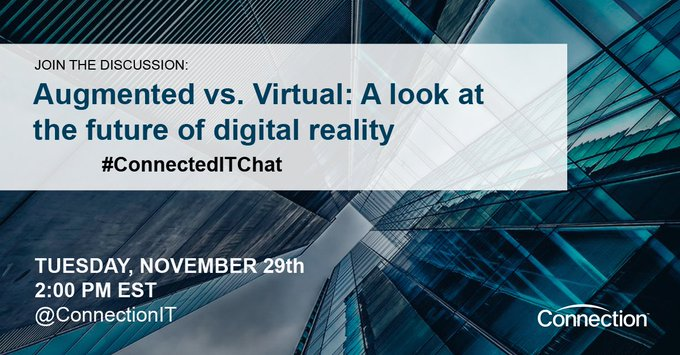 @Pathfinder I'm hosting a #TwitterChat on #AR & #VR Tues 11/29 at 2pm EST. Can you join? ://
