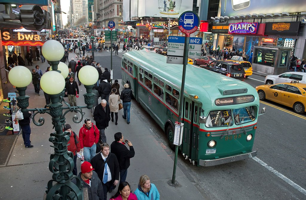 MTA's vintage subway cars and buses reappear to spread holiday cheer