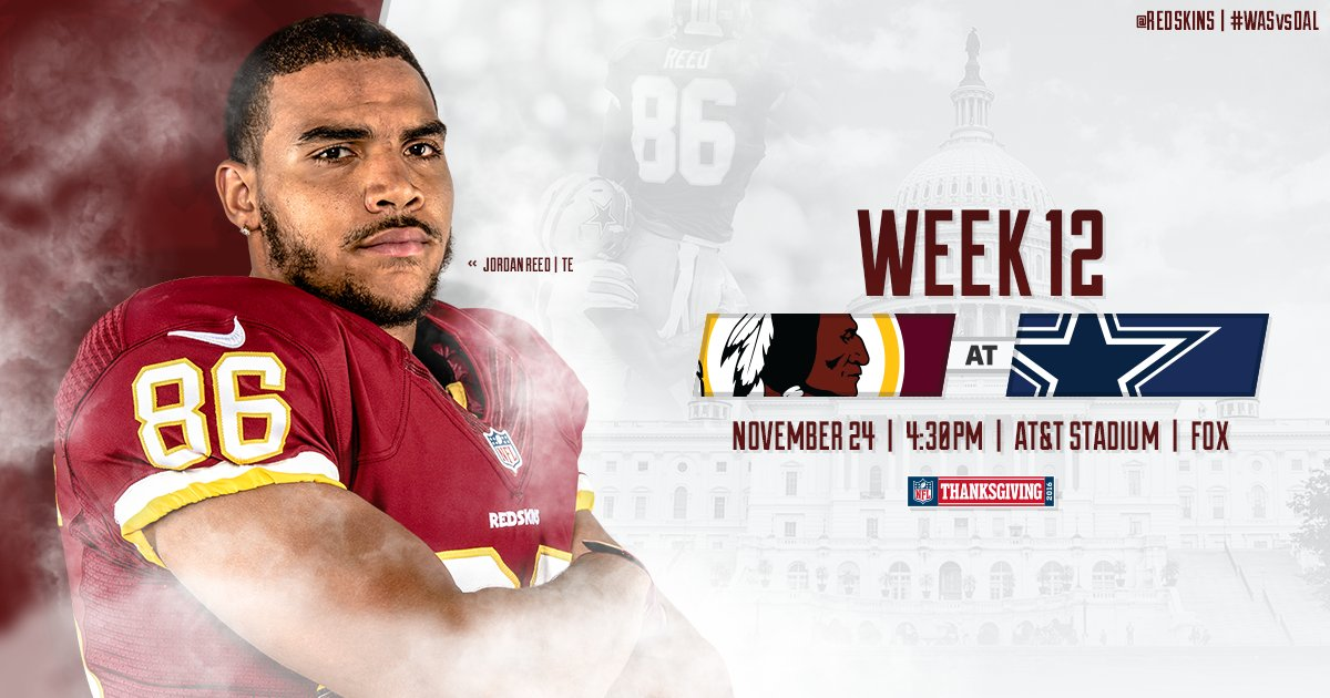 Rivalry.   #WASvsDAL Game Info:
