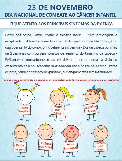 Confira dicas do Hospital Estadual da Criança para identificar os principais sintomas. O diagnóstico precoce pode salvar vidas!