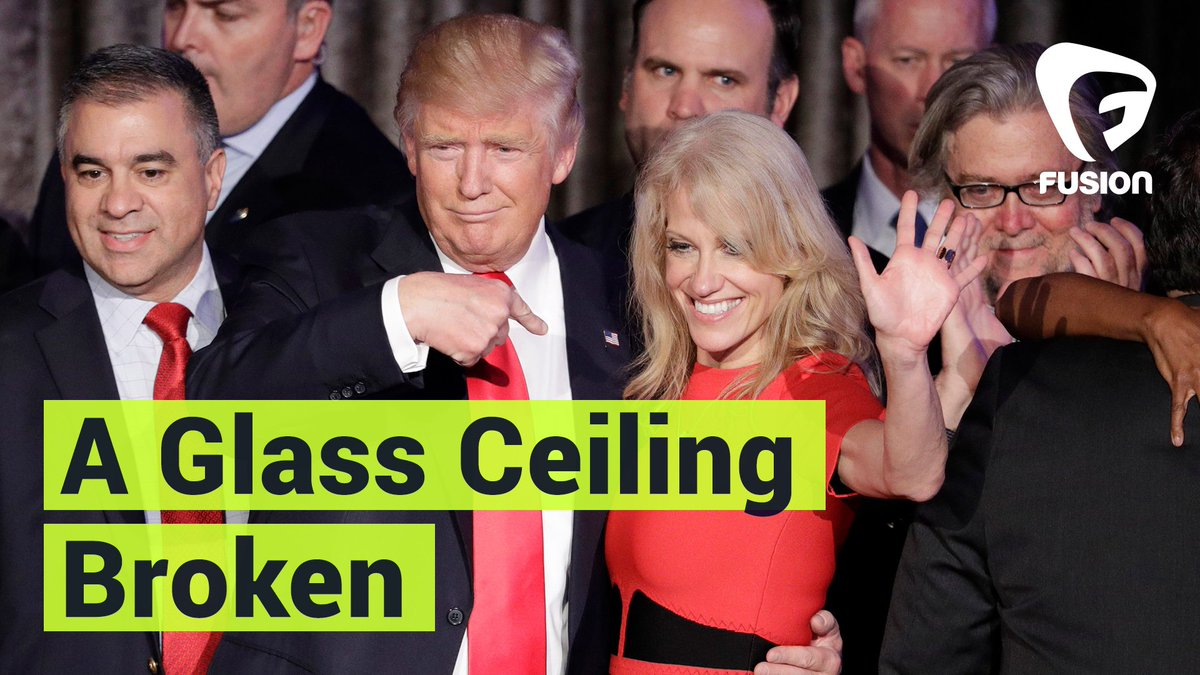 You might have missed it in the hot mess that was #ElectionNight but a woman on Trump's team broke a glass ceiling: