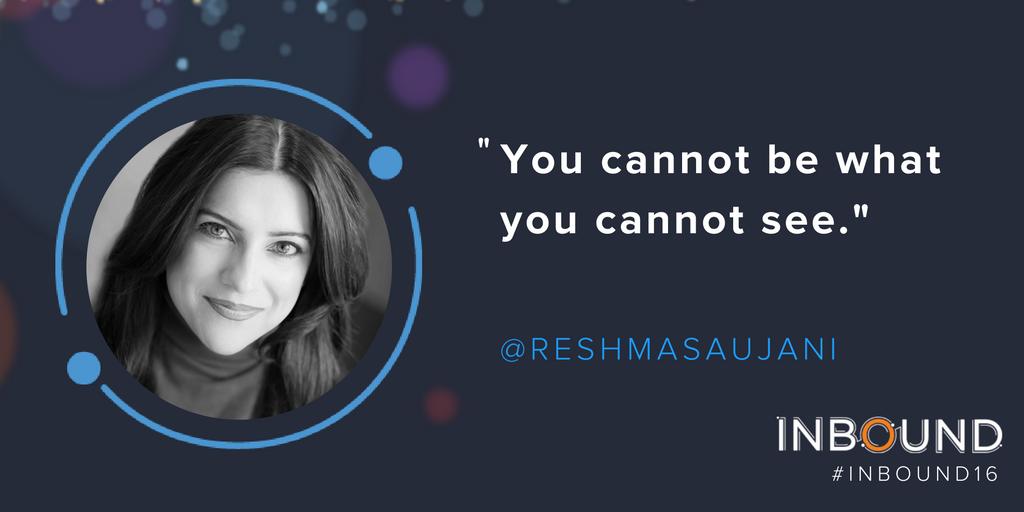 Representation matters. @reshmasaujani #INBOUND16 #GirlsWhoCode https://t.co/hOcAWtDGTT