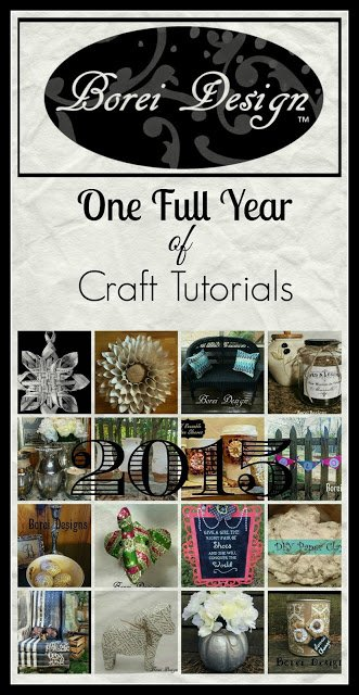 A whole year worth of diy home decor craft project tutorials!