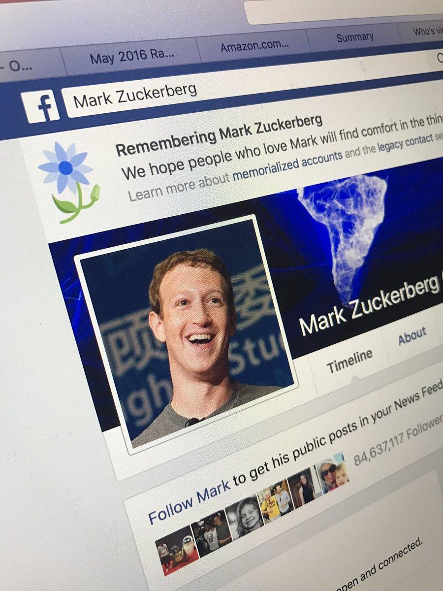 Социальная сеть Facebook объявила о смерти Марка Цукерберга
