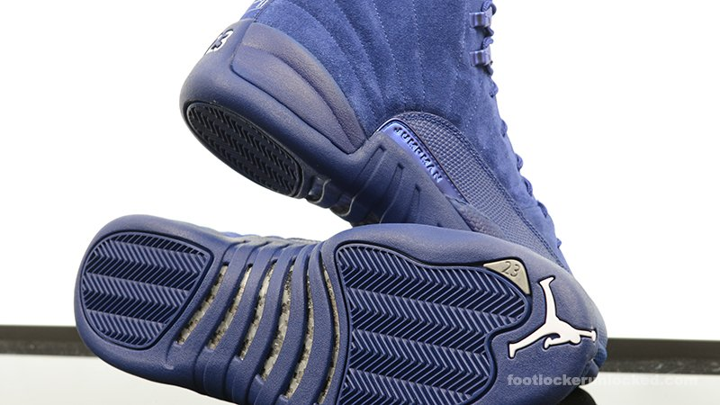 finest selection 58550 92e2d A detailed look at the Air  Jordan 12 Retro  Blue Suede . Available  tomorrow.   http   spr.ly 60138GXhT pic.twitter.com mZsEnDyYKl