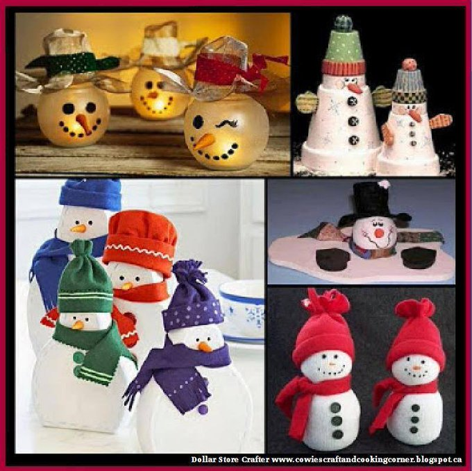4 Frosty The Snowman Craft Ideas LINK>>christmas crafts christmascrafts snowmen