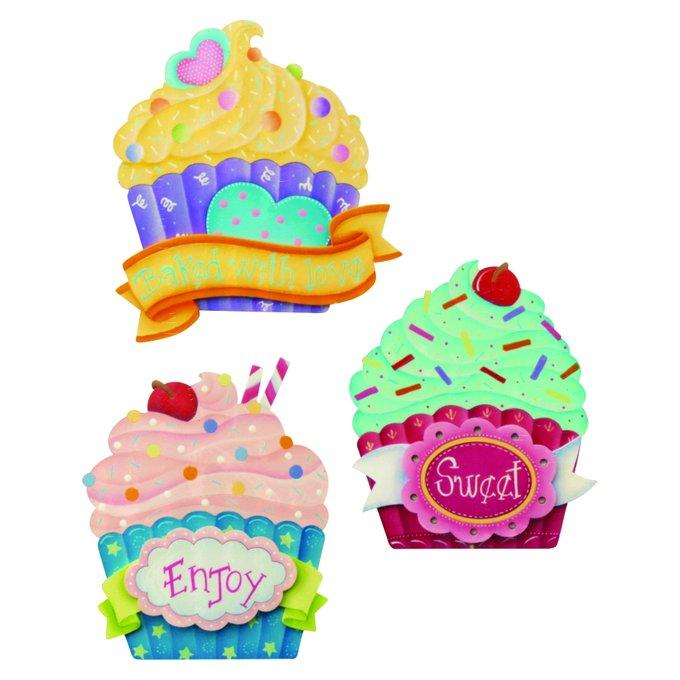 Te gustan los cupcakes?Mira este kit. manualidades DIY cupcakes