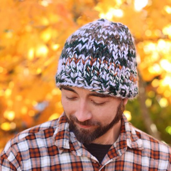 DIY Mens Chunky Hat Knitting Pattern