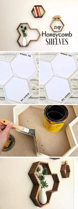 Check out the tutorial: DIY Honeycomb Shelves Industry Standard Design -