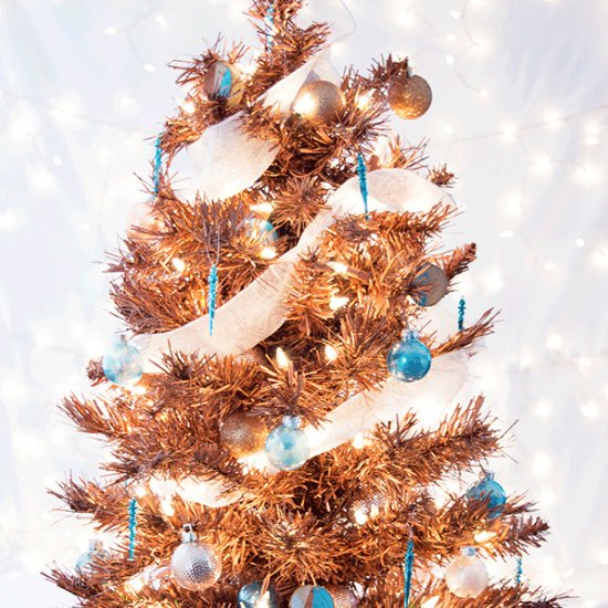 DIY Metallic Copper Christmas Tree