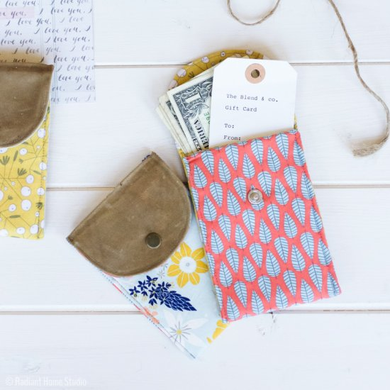 DIY Waxed Canvas Gift Pouch