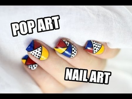 Pop Art Mani tutorial -->> Marine_LP nailart manicure