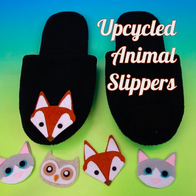 Give your old slippers a facelift with these furry critters!HelloGiggles DIY Upcycle