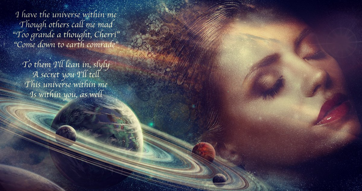...To them Ill lean in slyly, a secret you Ill tell, this universe within me, is within you as well #poetry #inspiration #poem #amwriting