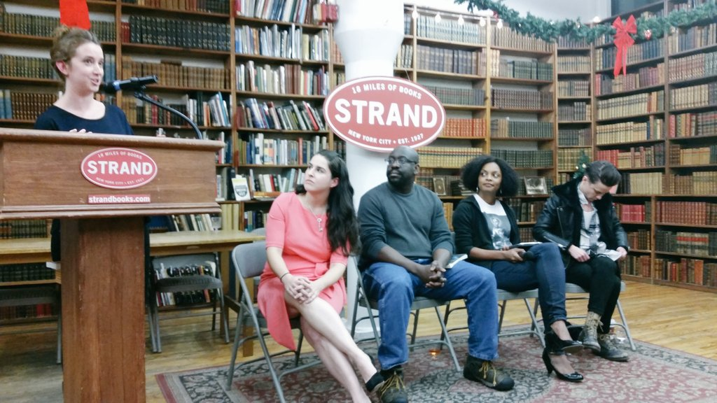 Hearing from some great authors at the Books and Booze event at the Strand. #BRLive https://t.co/Lux8VrMdmZ