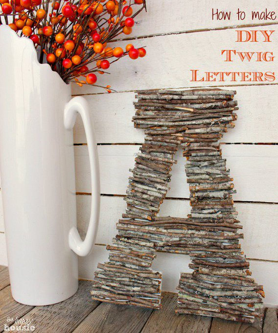 How to make DIY Twig Letters ontheblog. DIY budgetdecor