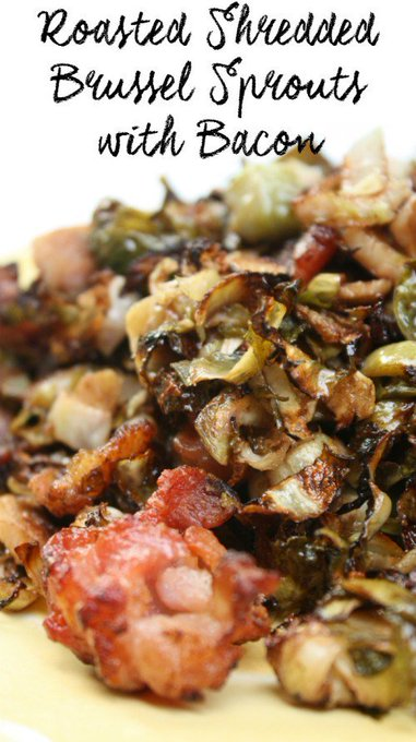 Roasted Shredded Brussel Sprouts with Bacon ://