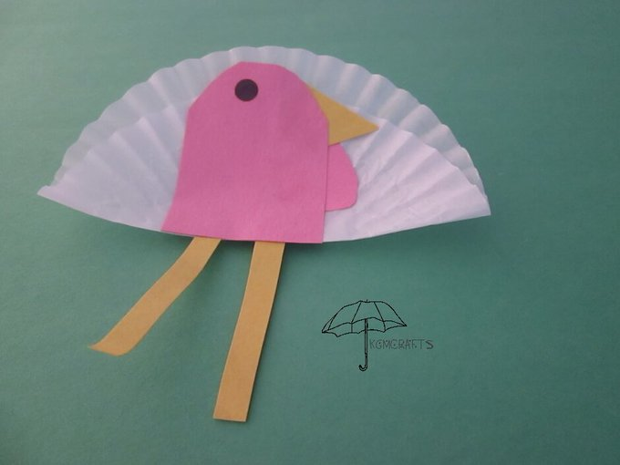 Cupcake liner turkey. Thanksgiving kids crafts