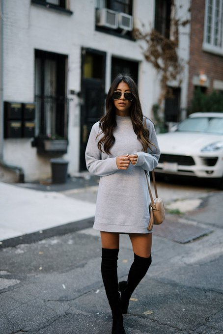 HOW TO WEAR: The SWEATSHIRT Dress via Not Your Standard notyourstandard ootd