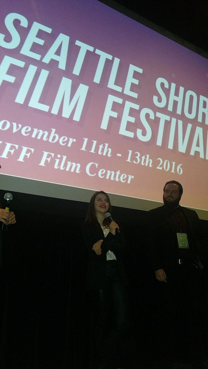 @TheAcademy Winning Short Film #Producer #Director @Rawhide_ (R) & @FatimaPtacek Q&A @SeattleShortsFF feature @B4IDisappear W/D @dreamsick https://t.co/ogSUw0zUzO