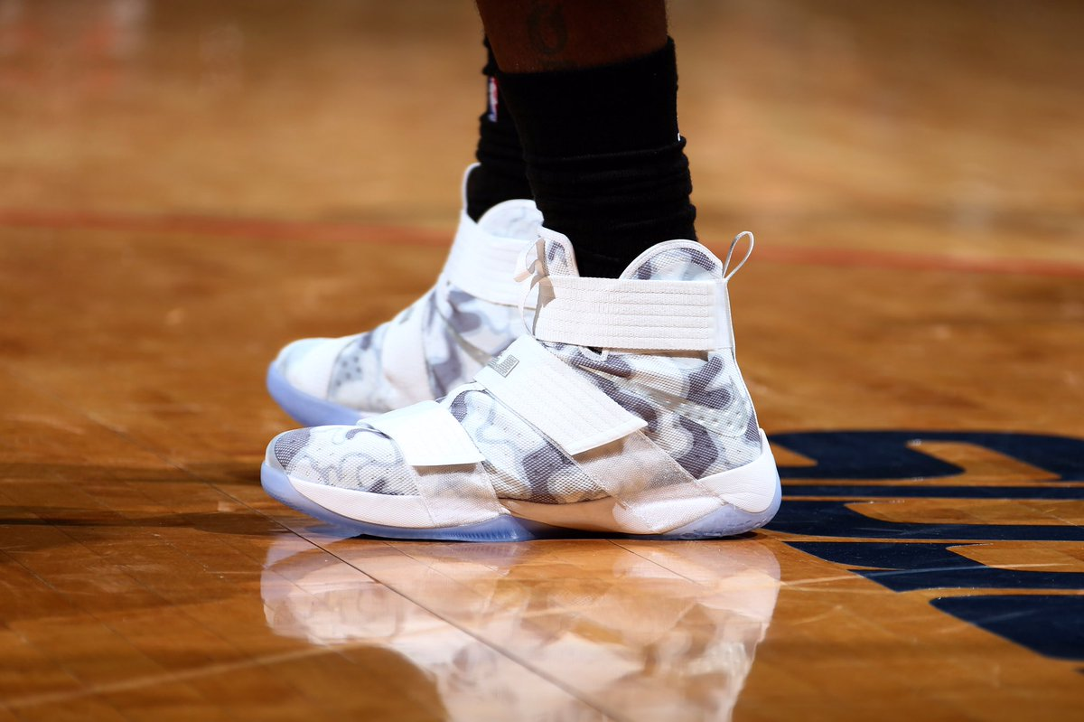 39e1dff44c0 Lebron james in the nike zoom lebron soldier 10