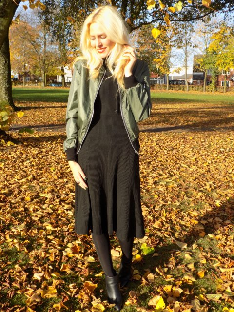 The khkai bomber jacket - NEW on El's Fashion Fix! - FBloggers BBloggers OOTD