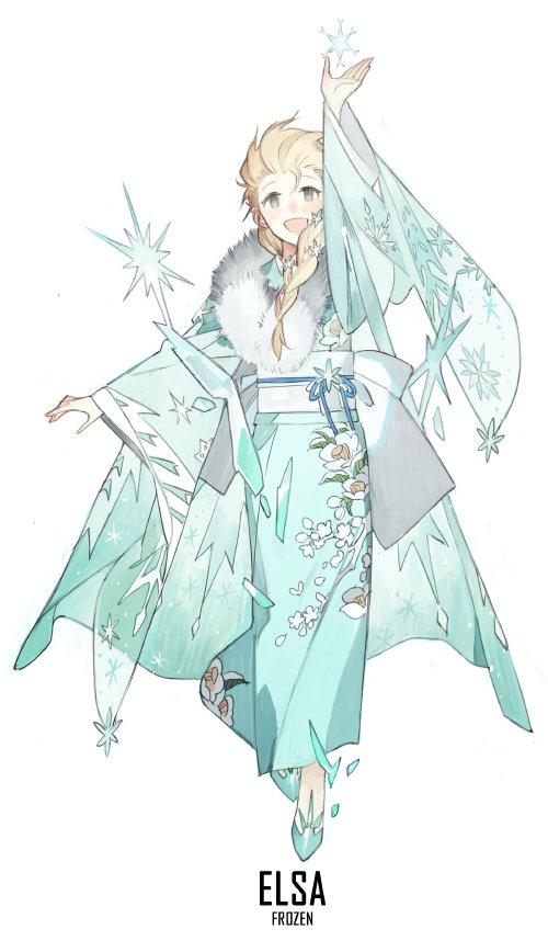 40000rtディズニープリンセスたちの着物バージョンが可愛すぎる日本