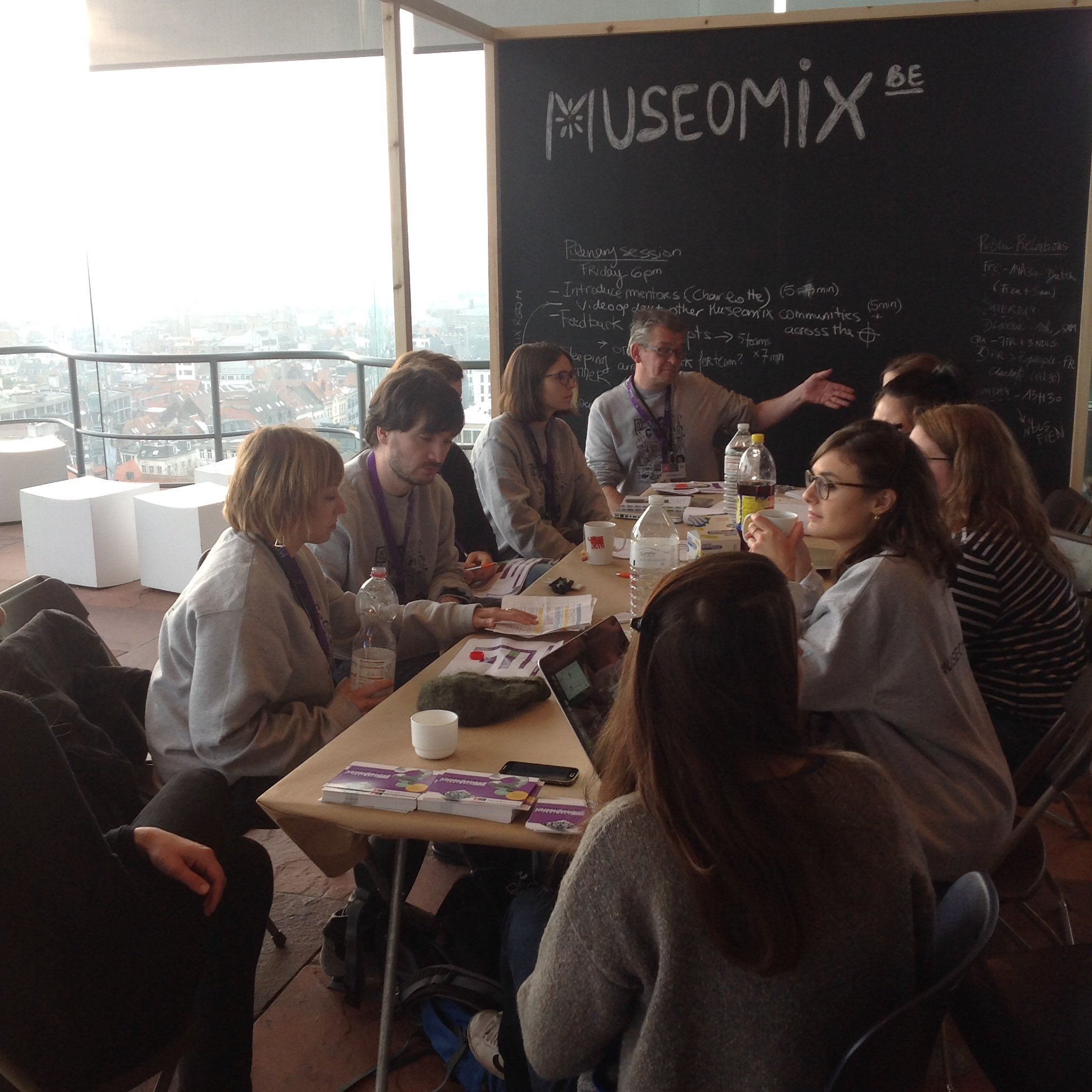 #Museomix16 day 2: #MuseomixBE is well-rested and hungry for now challenges. How about you guys? https://t.co/g971KUoM3F