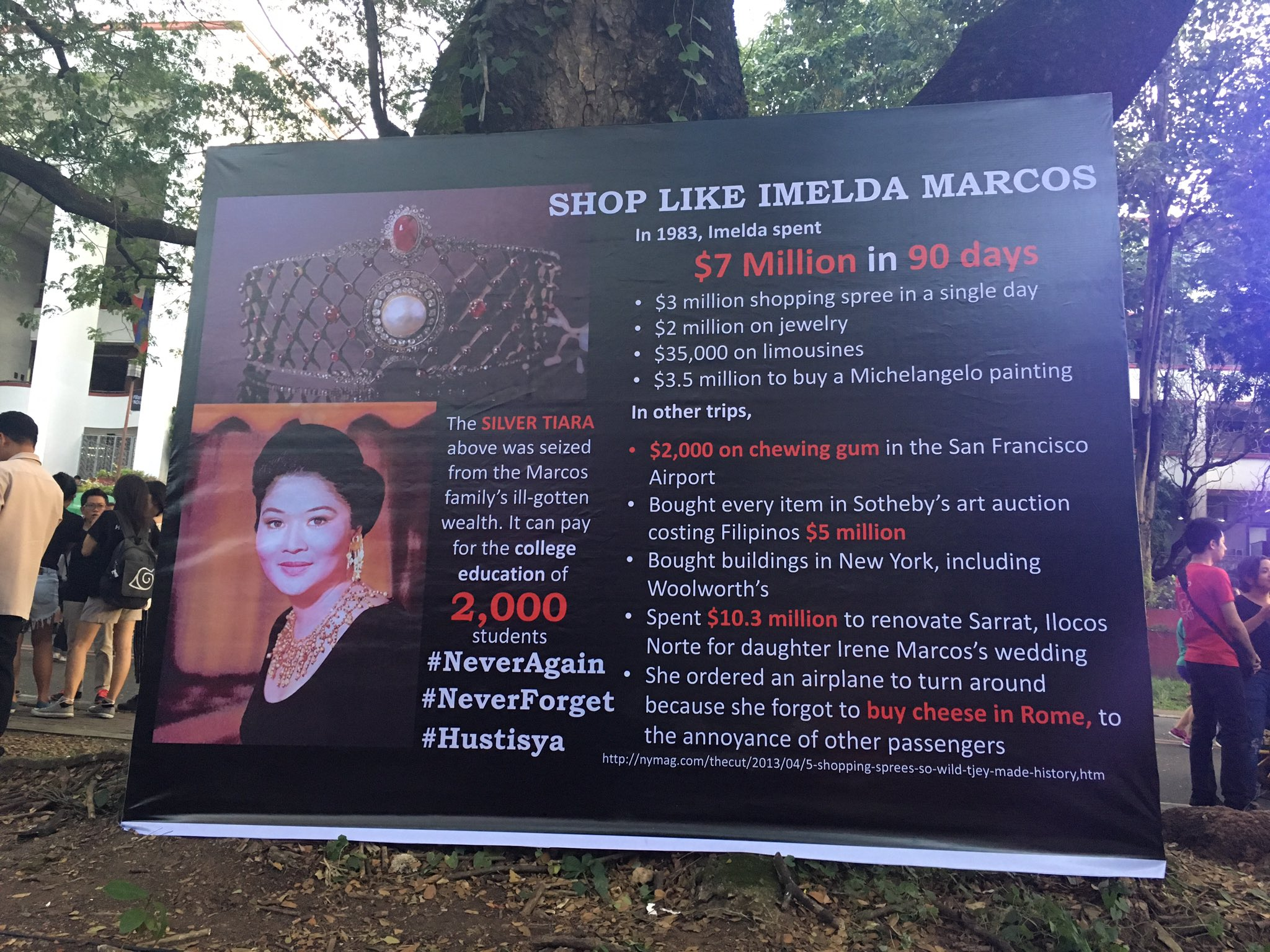 LOOK | How to shop like Imelda Marcos. #BeLEAN #NeverAgain https://t.co/UJlpUxXR6x