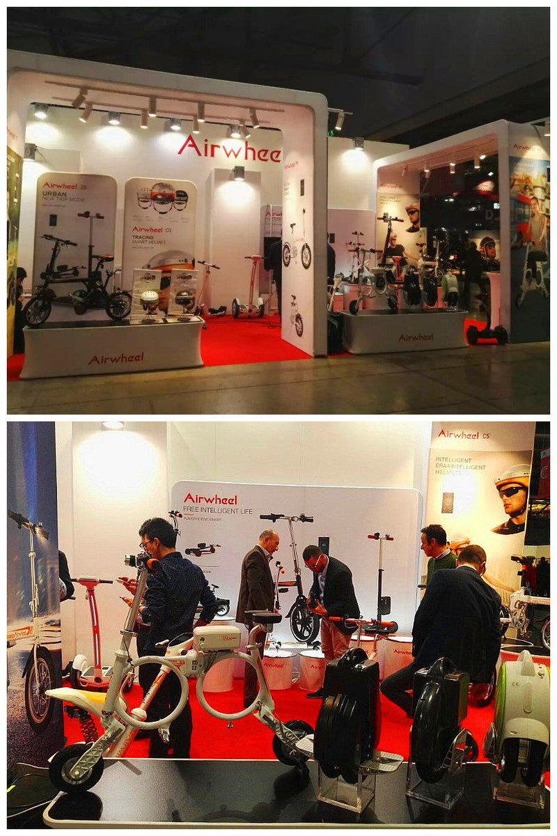 Welcome to visit #Airwheel on #EICMA #EICMA2016 #EICMAgirls show. (Fiera #Milano RHO. Hall 4; F50). Until Sunday (November 13th) .pic.twitter.com/AkcOmL6Ovq