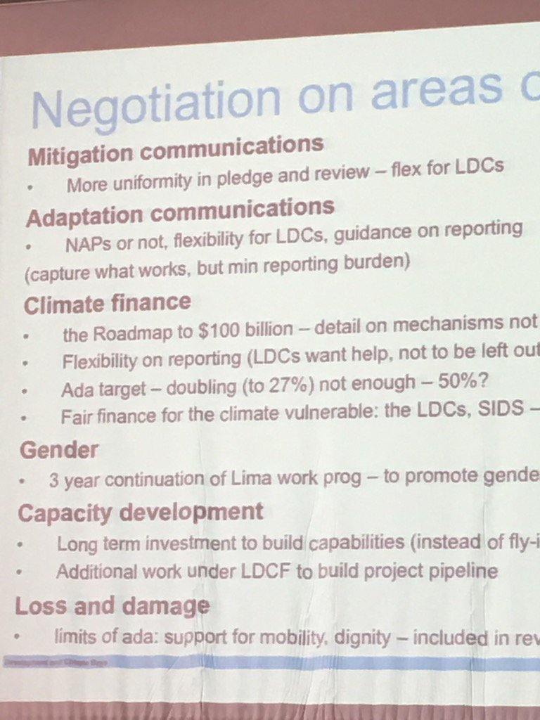 Negotiation issues to be discussed in Marrakech at @COP22 #DCdays https://t.co/SwwhmnLgMW