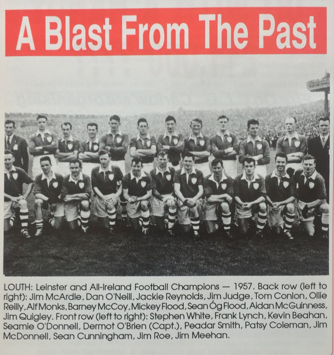 GAA Nostalgia On Twitter Louth Team That Won Leinster And All Ireland SFC In 1957 Gaa