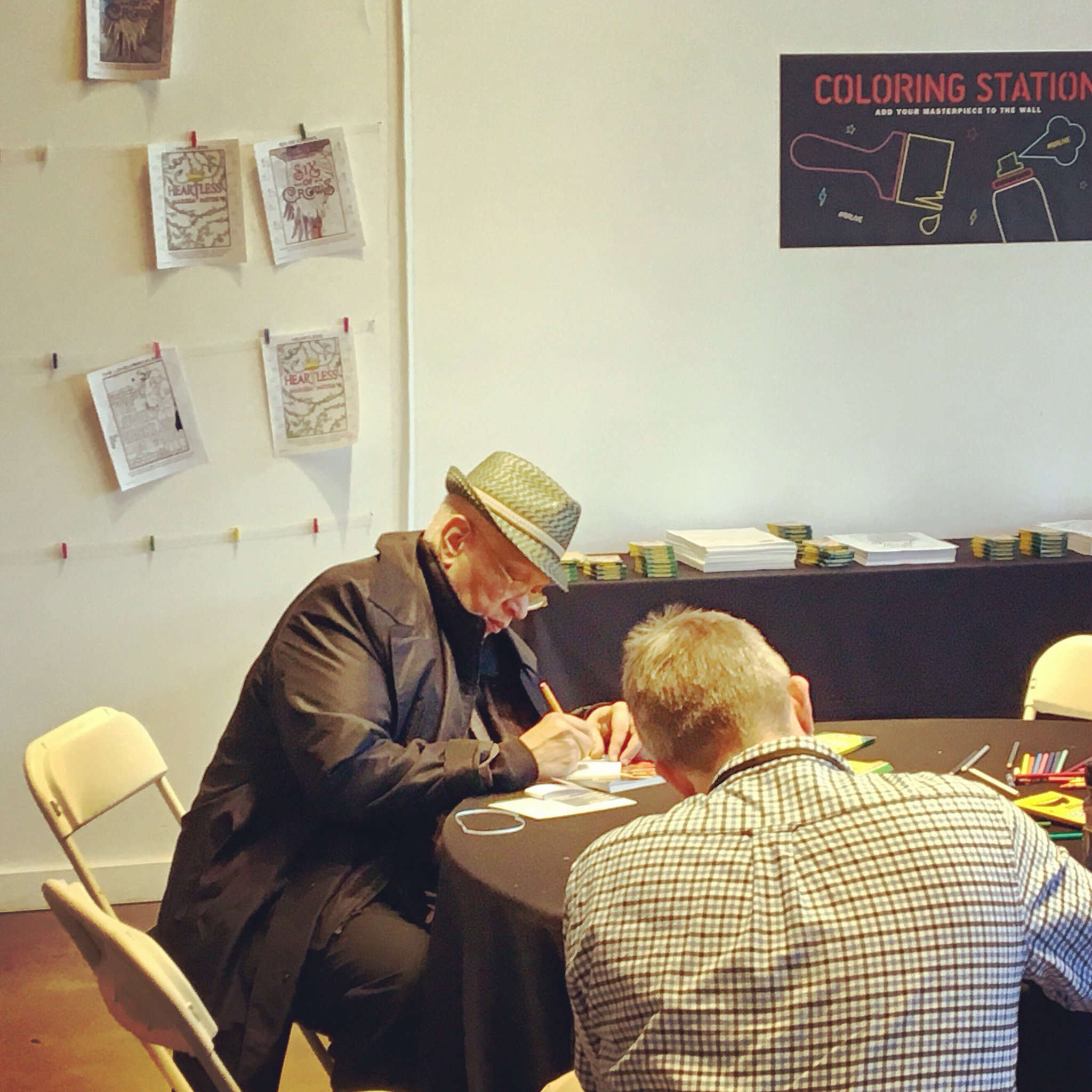 When Walter Mosley hits up the coloring station at #BRLIVE: https://t.co/jMyLNEPTvL