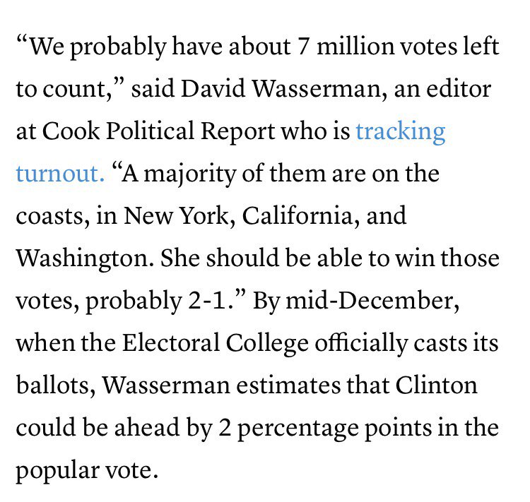 Some eye-popping numbers on Clinton's growing popular vote lead, via at @TheAtlantic