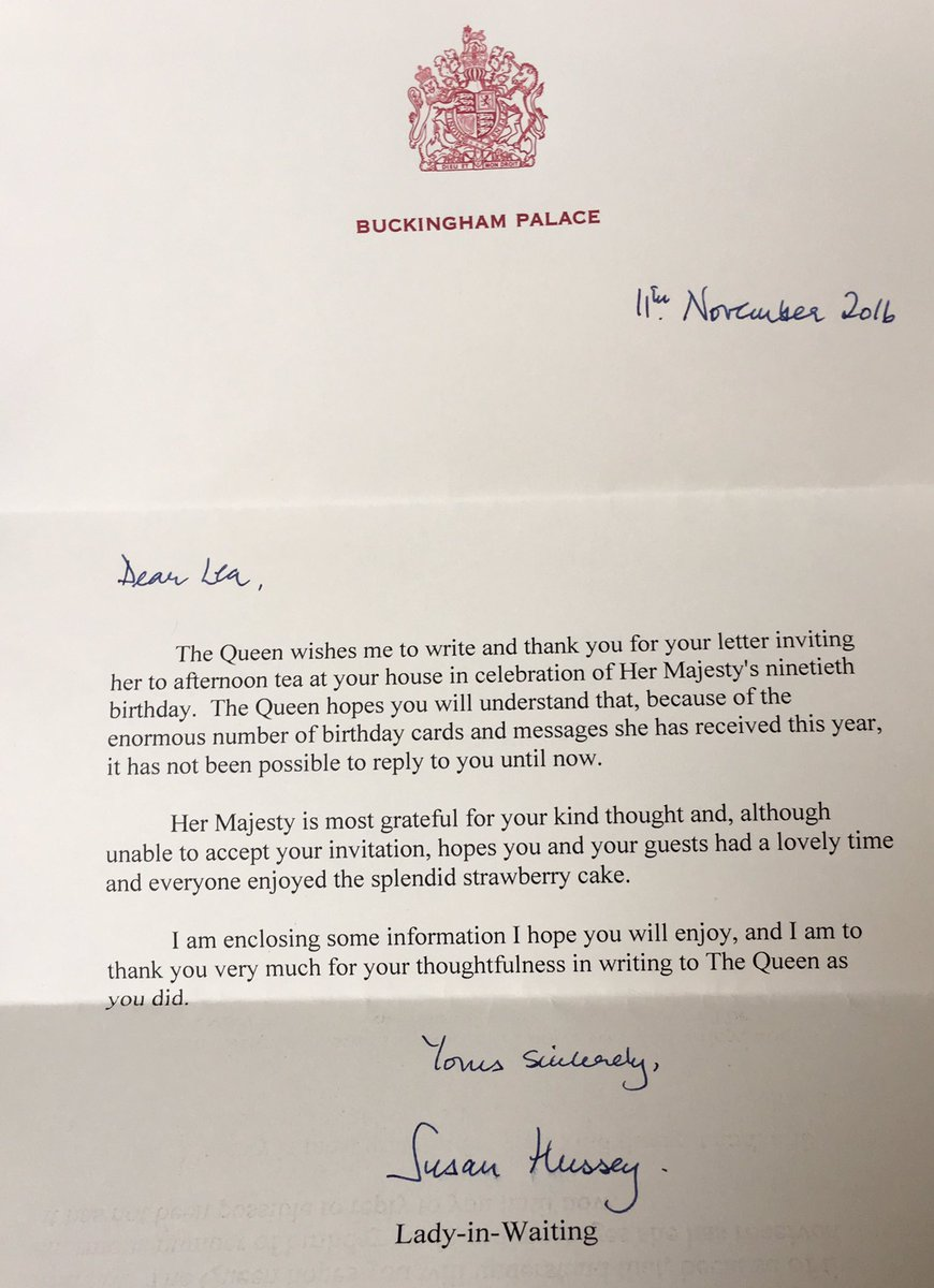Bertrand bodson on twitter leas first ever letter after bertrand bodson on twitter leas first ever letter after inviting the queen to tea a weird year but still there is something magical about britain the stopboris Images