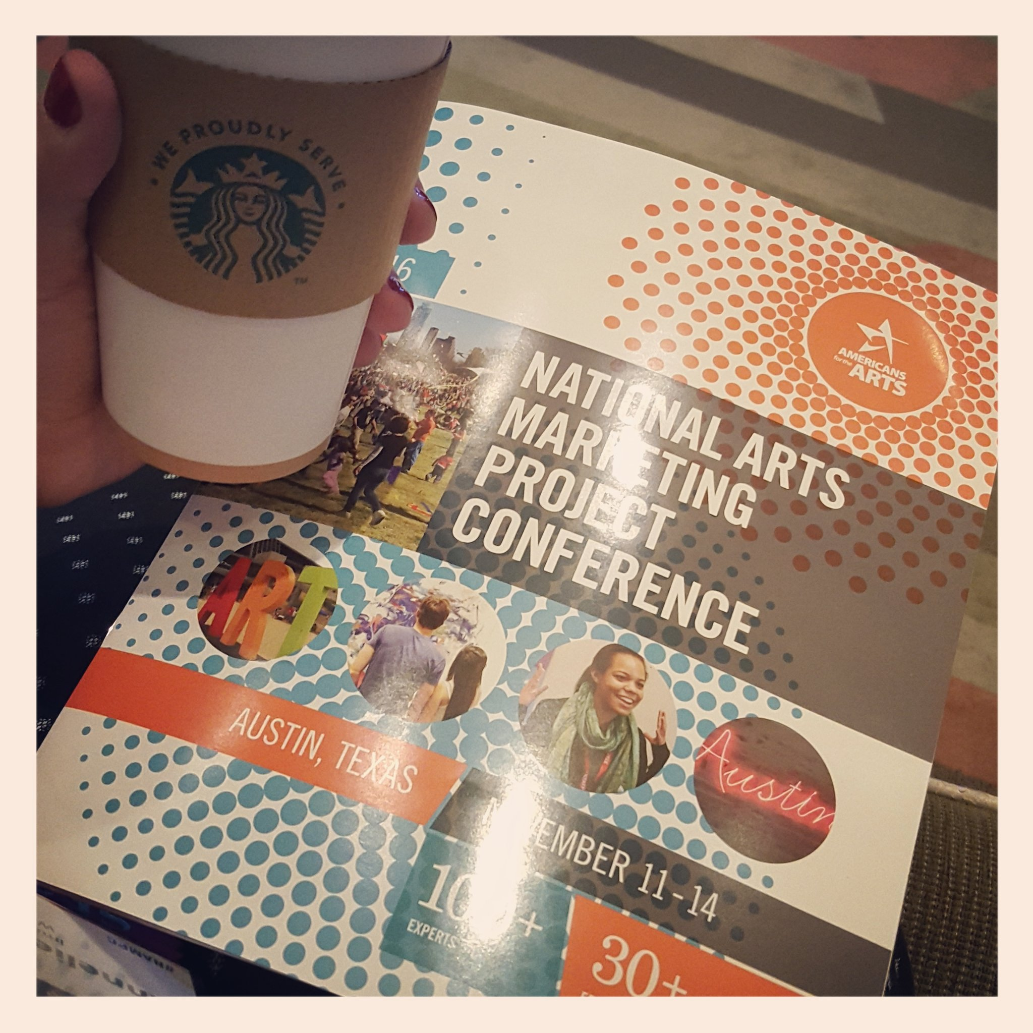 First full day at #NAMPC! 'Fueling up' with a little green tea. (See what I did there?) @Americans4Arts @artsmarketers #BreakingThrough https://t.co/0JJ5XPYNiH