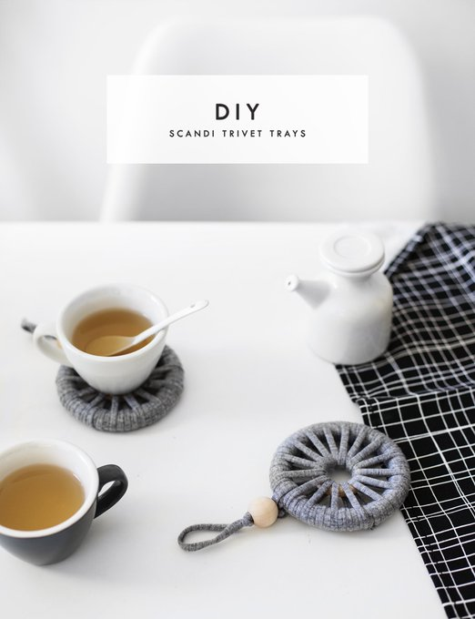 New DIY post! Learn how to wrap your way to a stylish Scandi Trivet Tray craftbloggers