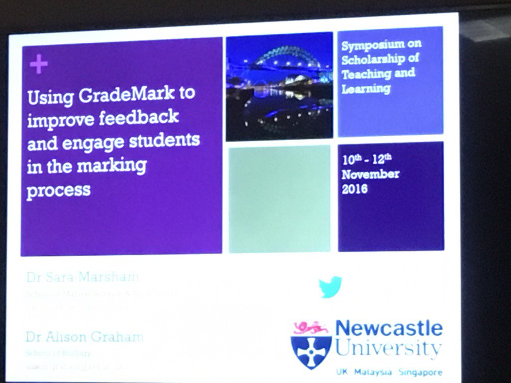 #ssotl16 Marsham & Graham Using GradeMark to improve feedback and engage students in the marking process https://t.co/L0iLv8XnOT